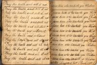 Tabitha Longfellow's writing book, 1788-89