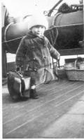Albert Butler Richardson on a ship, ca. 1919