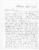 Recommendation for Horace Jordan, Portland, 1863