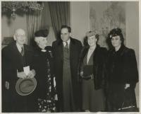 Gov. Hildreth with Marion Martin, Augusta, ca. 1947