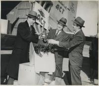 Gov. Hildreth with Air Cargo Transport, 1946