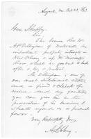 Introduction of A.P. Dillingham to Gen. Shepley, Augusta, 1863