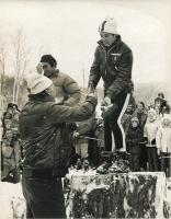Accepting trophies, 1971 Sugarloaf World Cup