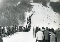 Looking up race trail, 1971 World Cup, Sugarloaf