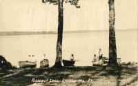 Canoes on Pleasant Lake, Stetson, ca. 1909