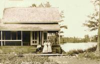 Hartwell's Landing on Pleasant Lake, Stetson, ca. 1909