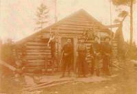Maine hunting camp, ca. 1900