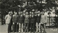 Madawaska Training School male students and faculty, Fort Kent, 1928