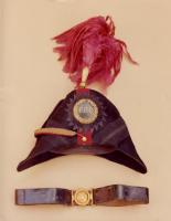 Portland Rifle Corps hat and belt, 1854