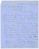 Horatio Jose on ordnance paperwork, Portland, 1865