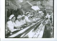 Cannery Workers Sorting Potatoes, Hartland, ca. 1940