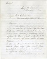 Gen. Shepley appeal to Maj. Gen. Ord, Virginia, 1865