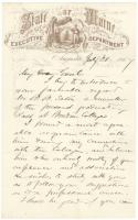 Gov. Chamberlain introduction of student to G.F. Shepley, 1867