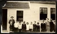 Children and teachers, Cumberland County, ca. 1925