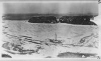 Schooner 'Bowdoin' melting out, Refuge Harbor, Greenland, 1924