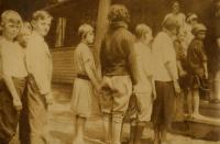 Campers at the nutrition camp, Casco, Maine 1925