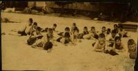 The beach at nutrition camp, Casco, 1925