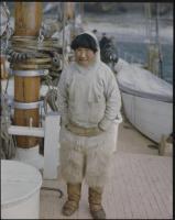 Inuit man aboard 'Bowdoin,' 1947