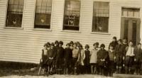 Students at public health visit, Yarmouth, ca. 1925