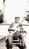 Capt. Ed Clarke and his banjo