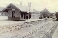 Sebasticook and Moosehead Railroad, Hartland Depot, ca. 1900
