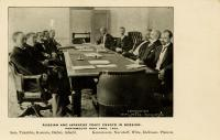 Russian and Japanese Peace Envoys in session, 1905