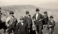 At the summit of Katahdin, 1923