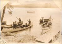 Canoeing, Belgrade Lakes, ca. 1910