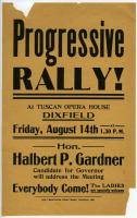 Progressive Rally Announcement, Dixfield, 1914