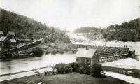 Sluice along the dam at Rumford Falls, 1906