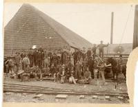 Monson Maine Slate Company, Monson Pond crew, ca. 1880