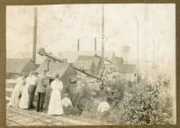 Visitors at the Monson Slate Works Quarry, ca. 1880