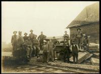 Monson Slate Quarry crew, Monson, 1908