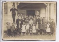 Somesville Schoolhouse class photograph, ca. 1900