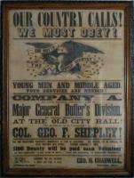 12th Maine recruiting poster, 1861