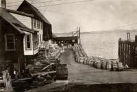 Barrels of fresh fish, Eastport,  ca. 1930