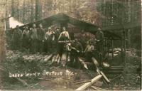 Portable Sawmill at Laken Woods, Stetson, ca. 1905