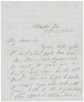 Franklin Pierce letter to G.F. Shepley, Washington, 1855