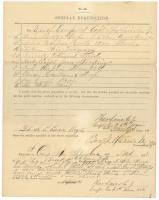 6th Maine special requisition form, 1863