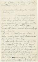 John W. Day letter on end of war, Georgia, 1865