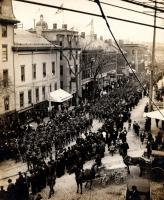 Soldiers on Federal Street., Portland, 1898