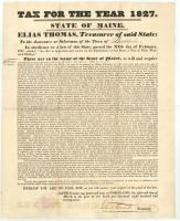 Tax Act, State of Maine, 1827