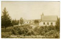 Lincoln School and Union Church, South Bristol, ca. 1915