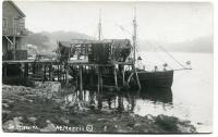 Nets drying at the Gut, South Bristol, ca. 1920