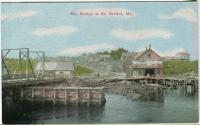 The first swing bridge in South Bristol, ca. 1910