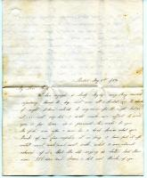 Letter to Sarah Tarbox Greenleaf from niece Sarah, Boston, 1854