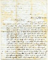 Letter to Sarah Tarbox from niece Arabella Webber, 1848