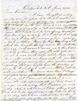 Letter to Sarah Tarbox from cousin Warren Brown, 1848