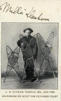 Dunham snowshoe advertising card, Norway, ca. 1907