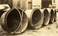 Cast Iron bean pots awaiting shipment, Portland, ca. 1900